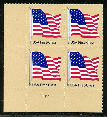 U.S. Scott 4130 American Flag First-Class (41 Cents) Plate Block