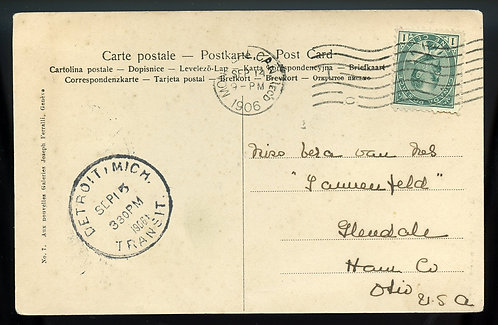 Canada Scott 89 On Post Card To Glendale, Ohio From Montreal, Canada