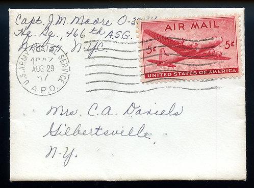 U.S. Scott C32 on Small Size 1947 APO 57 Cover