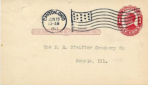 U.S. Scott UX24 Used 1 Cent Postal Card Picturing William McKinley