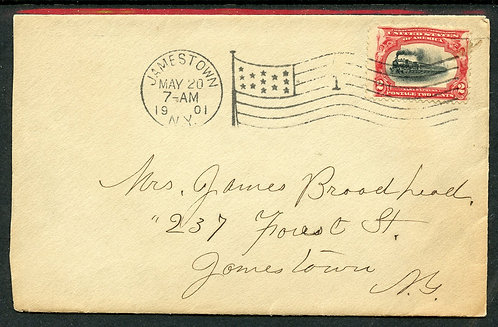 U.S. Scott 295 Paying First Class Rate on 1901 Jamestown, NY Cover