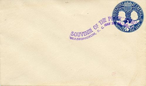 U.S. Scott U348 1899 Washington D.C. Peace Jubilee Cover