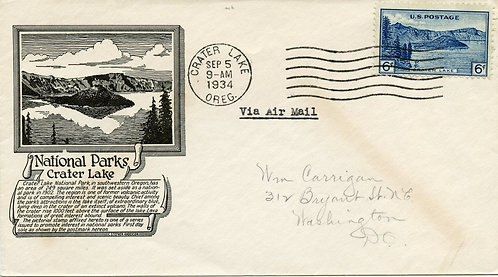 U.S. Scott 745 C. Stephen Anderson FDC Post Marked in Crater Lake National Park