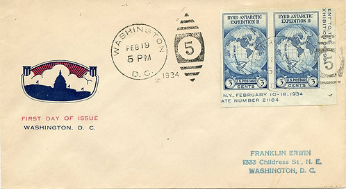 U.S. Scott 735a FDC Post Marked in Washington, DC