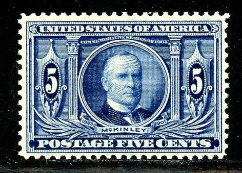 U.S. Scott 326 FVF MNH
