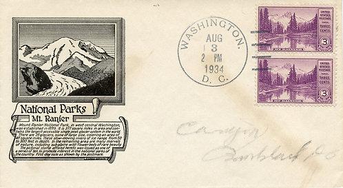 U.S. Scott 742 C. Stephen Anderson FDC Post Marked in Washington, DC