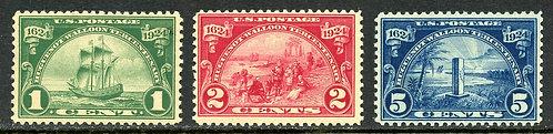 U.S. Scott 614-616 MNH Hugenot-Walloon Tercentenary Issue
