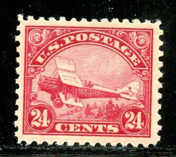 U.S. Scott C6 24 Cent DeHavilland Biplane VF MNH