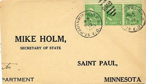 U.S. Scott 804 on 1939 St. Paul & Minot RPO Cover