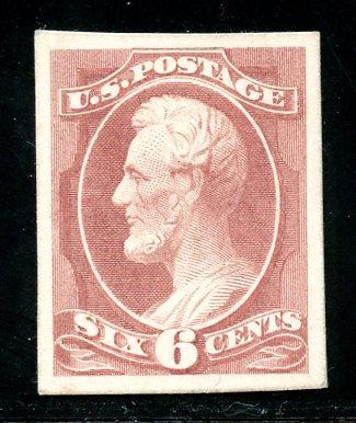 U.S. Scott 208P4 6 Cent Bank Note Card Proof