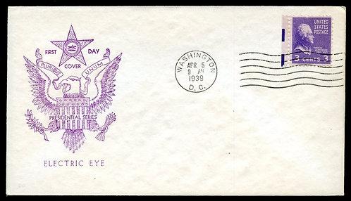 U.S. Scott 807 Electric Eye FDC Post Marked in Washington, DC