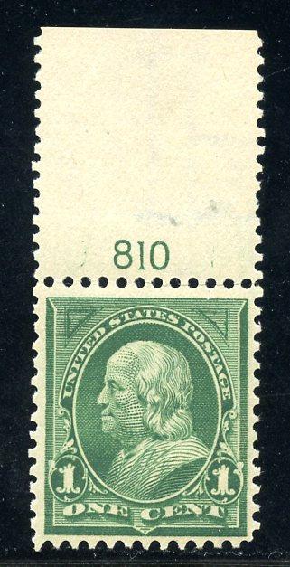 U.S. Scott 279a VF Plate Pumber Single w/Inverted Watermark Error
