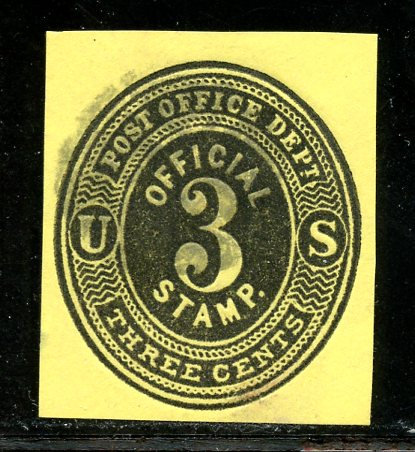 U.S. Scott UO7 Used 3 Cent Post Office Department Official Cut Square