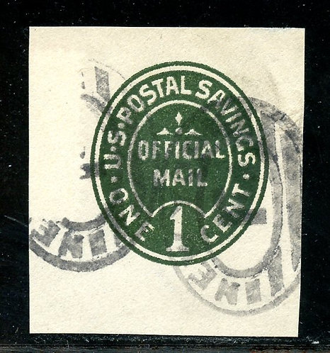 U.S. Scott UO70 Used 1 Cent Postal Savings Cut Square