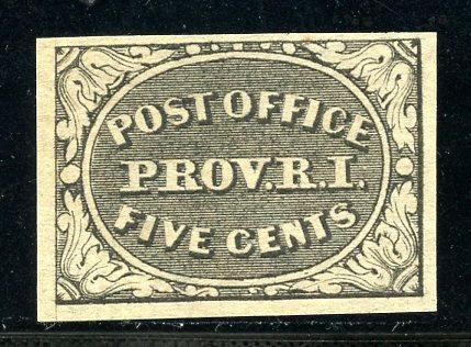 U.S. Scott 10X1 Unused Providence, RI Postmaster Provisional w/APEX Cert.