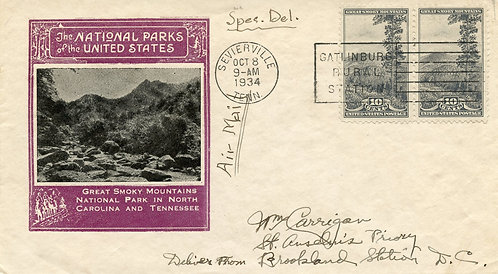 U.S. Scott 749 FDC Post Marked in Sevierville, Tennessee