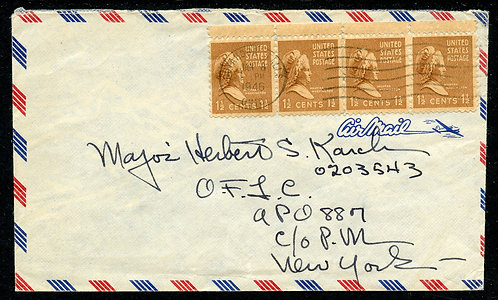U.S. Scott 805 (4) on 1946 Airmail Cover from Cuyahoga Falls, Ohio