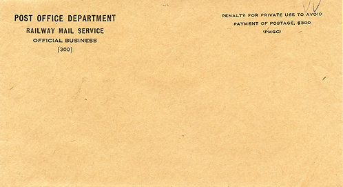 Railway Mail Service (RMS) Unused Government Penalty Envelope