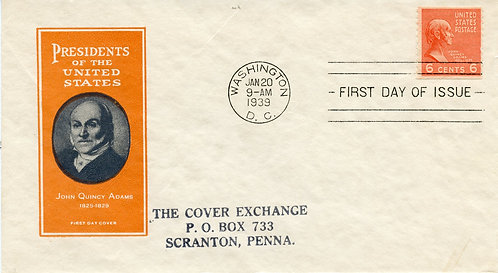 U.S. Scott 846 FDC Post Marked in Washington, DC with Ioor Cachet