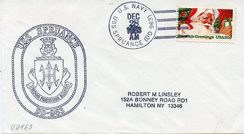 U.S. Scott 2064 On U.S.S. Spruance Cover
