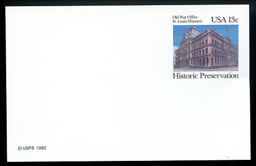 U.S. Scott UX97 Mint Postal Card Picturing the Old St. Louis MO Post Office