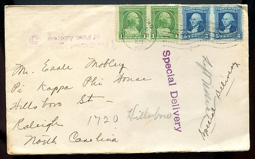 U.S. Scott 705 (2), 710 (2) on 1932 Special Delivery Cover