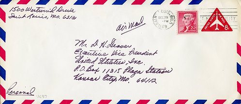 U.S. Scott 1055 on UC37 1960 Air Mail Cover