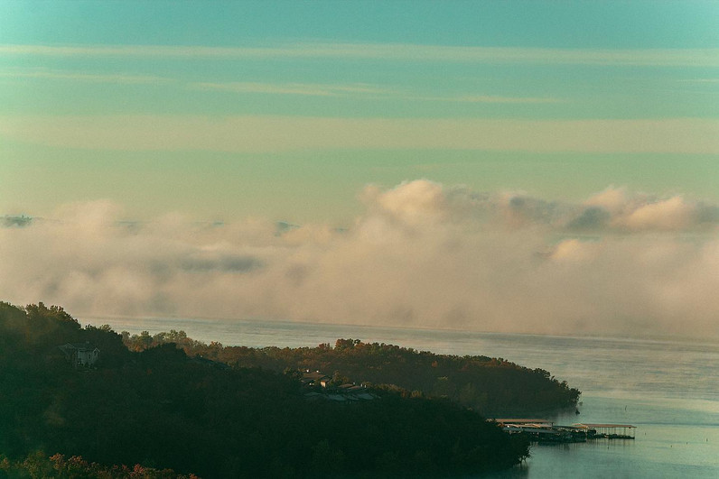 foggy mornings in branson, mo