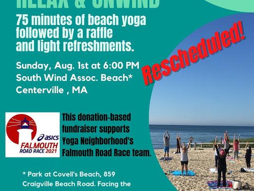 Rescheduled Beach Yoga Fundraiser