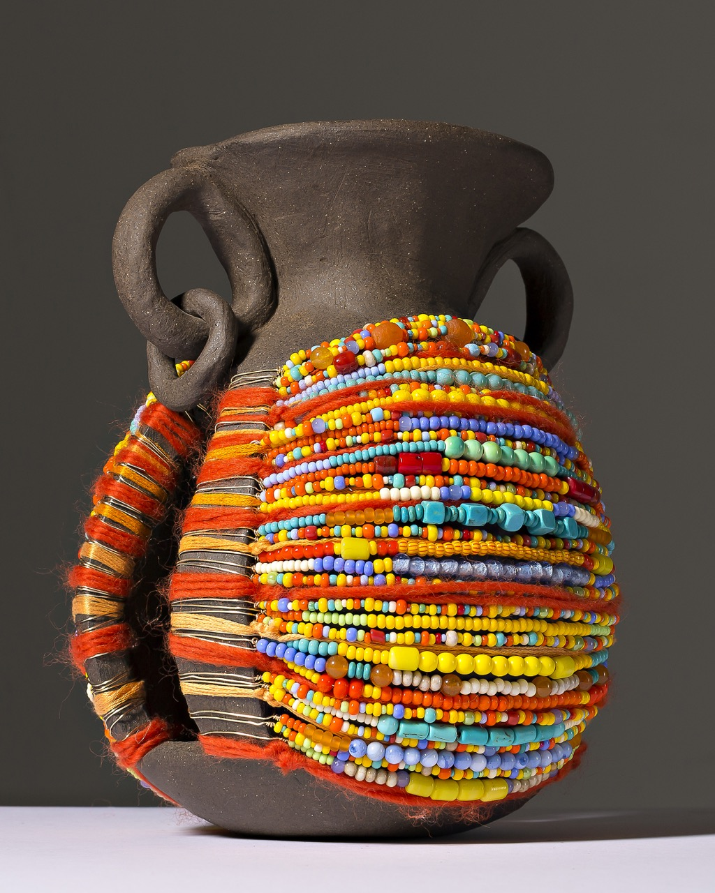Adorned Vessel in Yellow