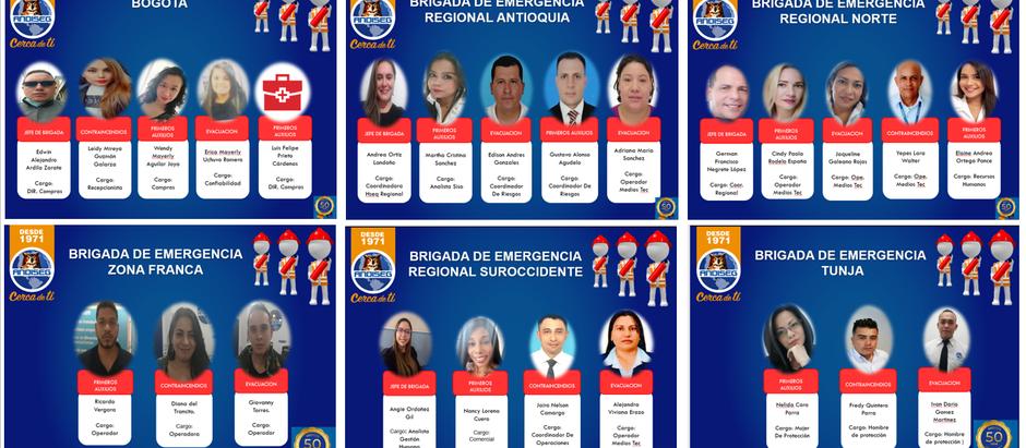 ANDISEG TIENE NUEVAS BRIGADAS DE EMERGENCIAS