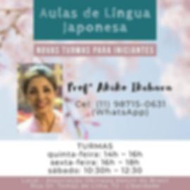AULAS DE LÍNGUA JAPONESA