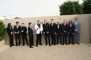 boys line up