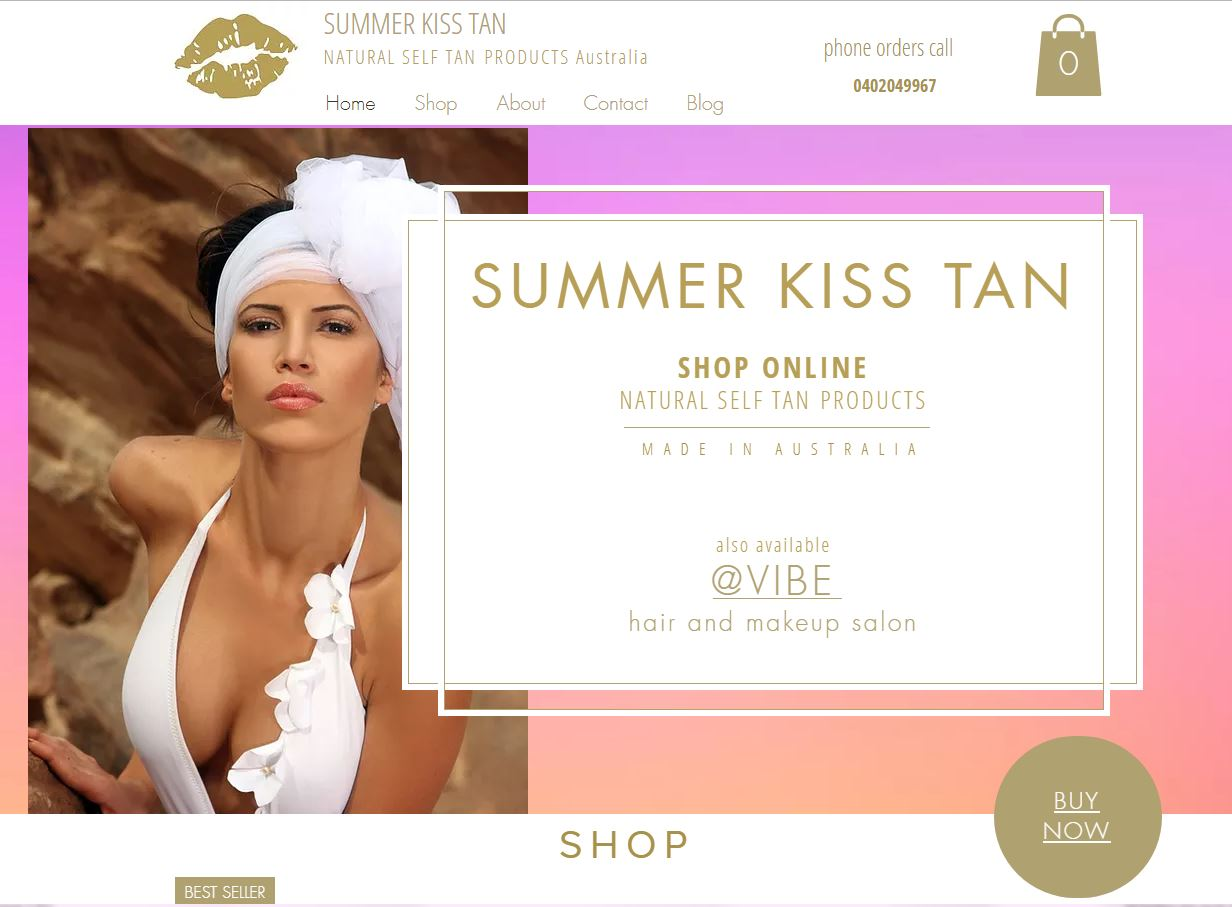 Summer Kiss Tan shop online