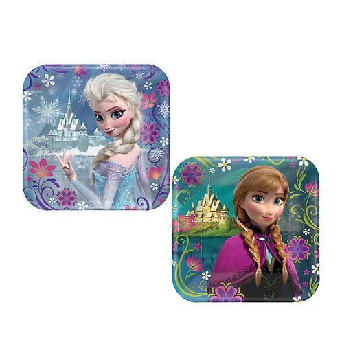 Disney Frozen party plates pack 8 Square snack size 17 cm