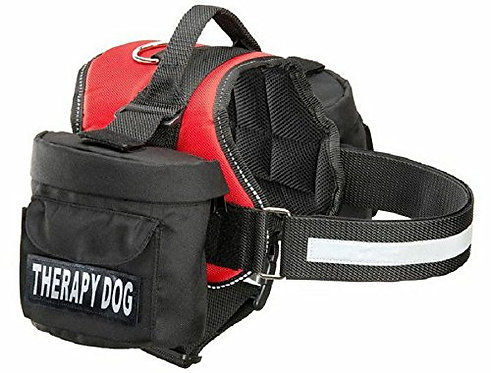 """Working """"Therapy Dog"""" Harness w/ Removable Side Bags"""