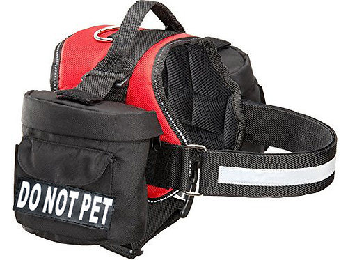 """Working """"Do Not Pet"""" Harness w/ Removable Side Bags"""