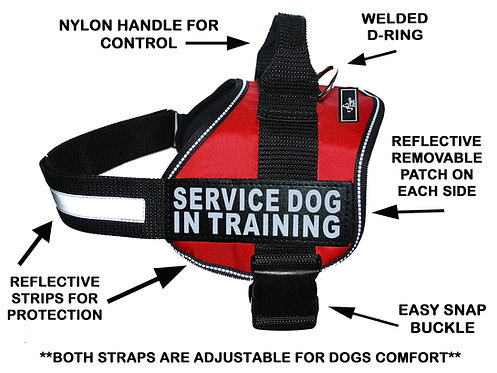 "Wholesale: Working ""Service Dog In Training"" Harness"