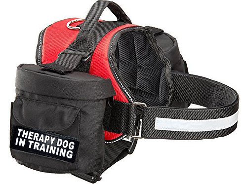 "Working ""Therapy Dog In Training"" Harness w/ Removable Side Bags"