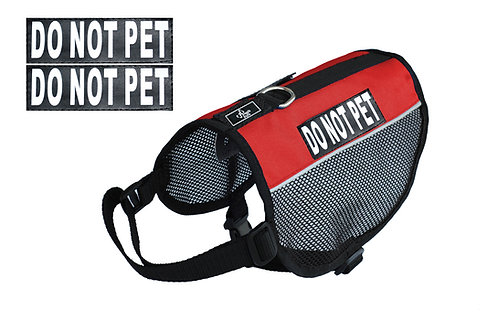 "Mesh ""Do Not Pet"" Vest"