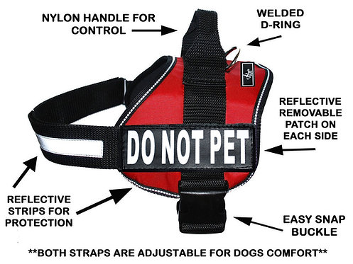 "Wholesale: Working ""Do Not Pet"" Harness"