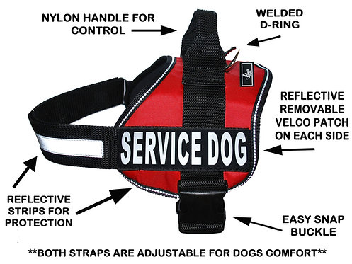 "Working ""Service Dog"" Harness"