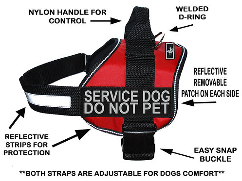 "Wholesale: Working ""Service Dog Do Not Pet"" Harness"