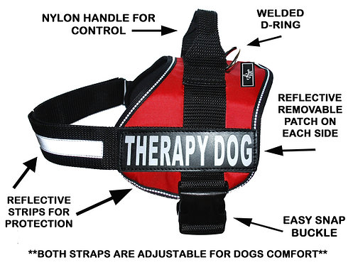 "Working ""Therapy Dog"" Harness"