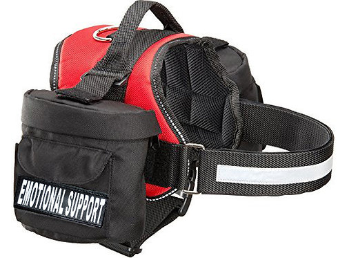 """Working """"Emotional Support"""" Harness w/ Removable Side Bags"""