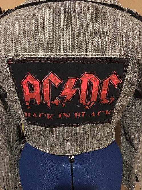 AC/DC Denim Crop Jacket