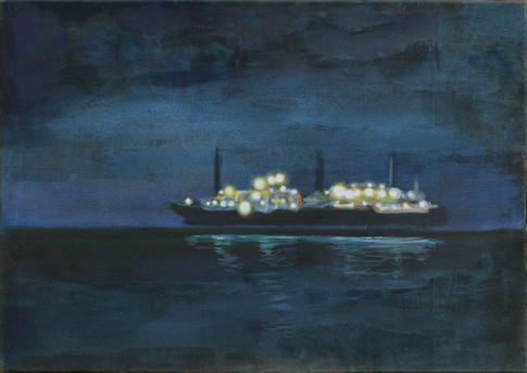Night ship (Rügen)
