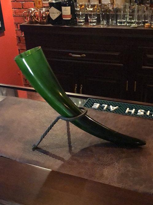 Emerald Green Drinking Horn #4