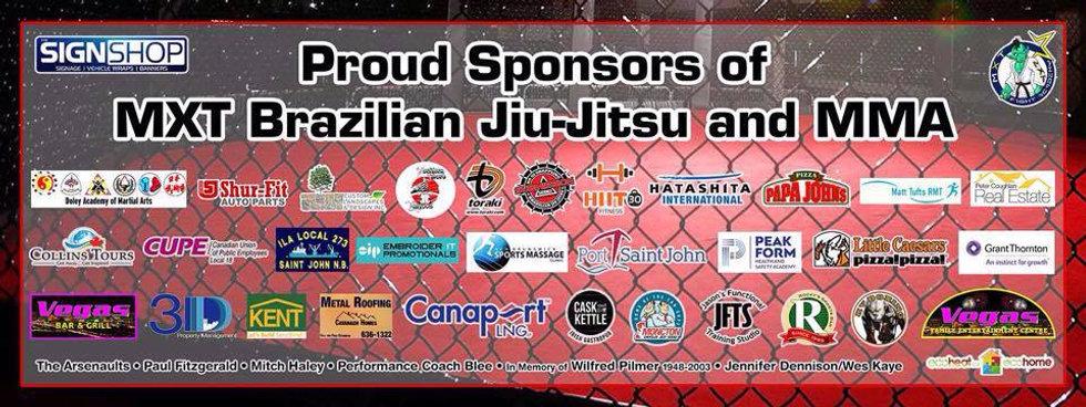 MXT FIght Academy Sponsors