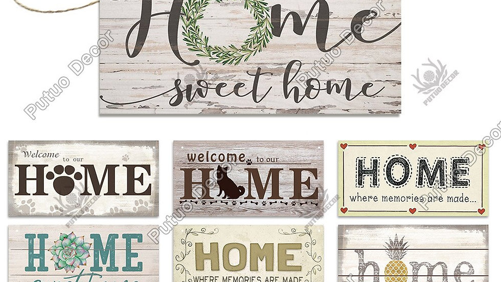 Putuo Decor Home Signs Wooden Hanging Signs